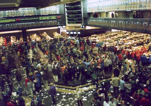 Торговый зал чикагской биржи CBOT