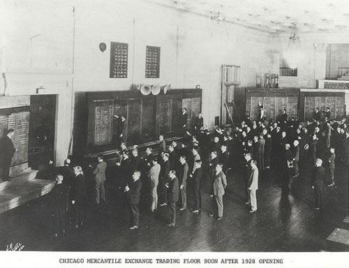 История чикагской биржи CME, 1928 год