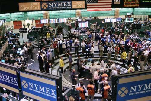Зал нью-йоркской биржи NYMEX