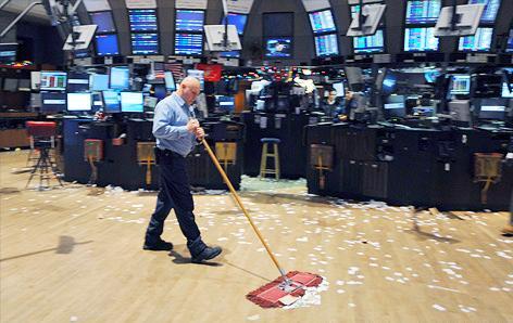 Объемы торгов на биржах 2012